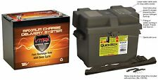 VMAX MR107 12 Volt 85Ah AGM SLA Marine Deep Cycle Battery + Group 24 Marine Box