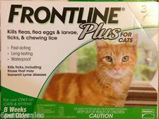 *FRONTLINE Plus for Cats Flea and Tick Medicine Cat Feline 3 Month Supply Kitten
