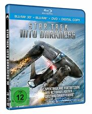 3D Blu-ray * Star Trek - Into Darkness -  3D + 2D + DVD - Chris Pine # NEU OVP+
