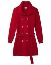 Pure collection italienne tricot trench rouge taille uk 16 rrp £ 299 Box4638 h