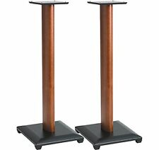 Sanus Natural Foundations 30 Inch Speaker Stands, Pair (Cherry) - NF30C, New, Fr