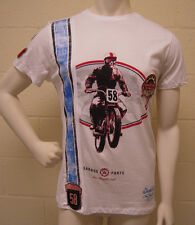 Christian Audigier Dirt Bike Racer White T-Shirt (L)  NEW