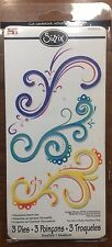 SIZZIX Sizzlits Die DECORATIVE FLOURISHES SWIRLS SET