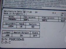 Hard Disk Drive Maxtor 7850AV P60CGDWS HDD 59P1 38P3 01A C,D,C