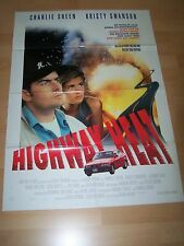 HIGHWAY HEAT - Kinoplakat A1 ´94 - CHARLIE SHEEN Kristy Swanson