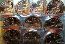 100 SILVER TRADE DOLLAR Style 1 ounce .999 Copper Bullion Coin Rounds w Displays