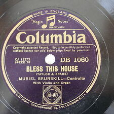 78rpm MURIEL BRUNSKILL bless this house / god make me kind