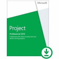 Microsoft project Professional 2013  for 2 PC's ( 32/64-bit) Full version