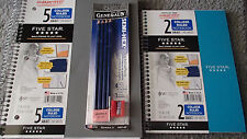 FIVE STAR COLLEGE RULE NOTE BOOKS & PENCIL PACK