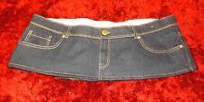 7  Inch length Blue  Denim Micro Mini Skirt Plus Size 20