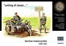 Masterbox 1:35 - TEDESCO di motociclisti 1940 - 1943 figure e KIT MODELLINO MOTO