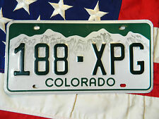 COLORADO license licence plate plates USA NUMBER AMERICAN REGISTRATION