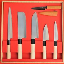 Set Japan YAXELL  kitchen chef deba knives Santoku Gyuto Yanagiba petit knife