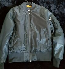 Urban Classics Flight Bomber Jacket Faux Leather Sleeves Size S