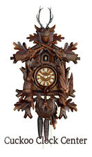 Cuckoo Clock 1-day-movement Chalet-Style 37cm Black Forest By Hubert Herr