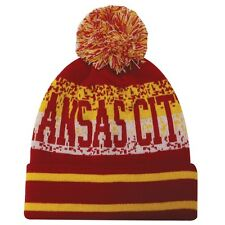 Kansas City Chiefs Inspired Winter Pom Hat / Beanie New FREE SHIPPING