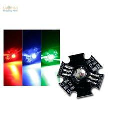 10 x Highpower RGB LED, rot grün blau, Power LED FULLcolor 3W, auf Star Platine