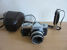 Nikon Nikkormat FTn Camera w/ Mounted Handle, Leather Case, and 1:2 f=50mm Lens