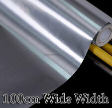 Silver Metal Contact Paper Rolls Countertop Cabinet 100cm Wide Glossy Wallpaper