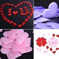 100Pcs Red Heart Shape Petal Flower Wedding Engagement Xmas Party Table Decor