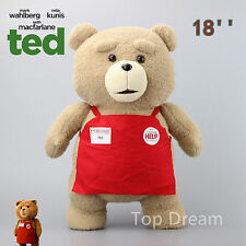 NEW 45cm Movie Ted Bear Plush Toys Soft Stuffed Doll Teddy Bears Kids Gift 18''