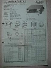 PHILIPS nd371v Autoradio schema elettrico su cartone Blu Edizione 03/58