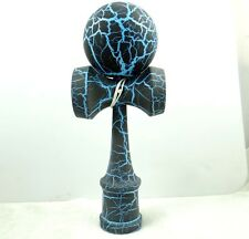 Beautiful Black on blue Kendama All-Over Crackle Pattern matt paint P_8