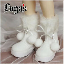 White Snow Boots for BJD Doll 1/4 MSD Luts AS DOD Doll Shoes SW10