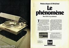 PUBLICITE ADVERTISING 106  1983  Dual  (2p)   platine disques CS 741Q