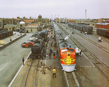 Santa Fe Railroad Super Chief train in station Albuquerque NM 1943 photo choices