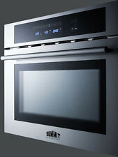 "Summit CMV24 Built in Microwave, Convection Oven, Grill 24"" Stainless Steel"