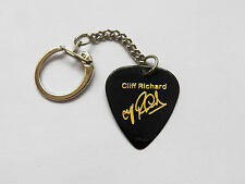 CLIFF RICHARD autograph stamped guitar pick plectrum keychain key ring