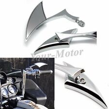 Chrome SPEAR ALUMINUM CUSTOM MIRRORS FOR HARLEY MOTORCYCLE CRUISER CHOPPER