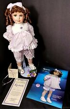 "Hamilton Collection Kimberly By Jane Zidjunas 16"" Porcelain Doll Curly Hair"