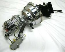 """CHROME Chevy Truck 8"""" Power Booster Bail Top Master Cylinder & Bracket Disc Disc"""