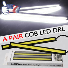 2x Super Bright White COB Car LED Lights 12V for DRL Fog Driving Lamp Waterproof