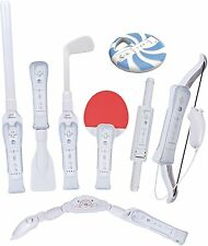 CTA Digital Nintendo Wii Sports Resort 8-in-1 Game Accessory Kit Pack White New