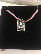 The Sun R34 Pewter Pendant on a PINK CORD Necklace