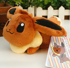 New Pokemon Plush Toys 6in Sleeping Eevee Figure Doll Kids Soft Toys Y