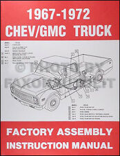 1967-1972 Chevrolet Truck Factory Assembly Manual Pickup Suburban Blazer Chevy