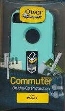 "OtterBox COMMUTER iPhone 7  ""AQUA MINT WAY""~Mint & Forest Green~Reg $40"