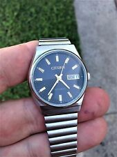 Men's RARE VINTAGE CITIZEN 21 JEWELS 8200A AUTOMATIC DAY/DATE STAINLESS Watch