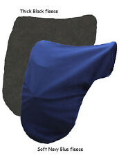 SOFT BLACK  FLEECE DRESSAGE SADDLE COVER PROTECTION