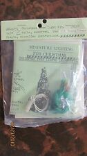 Dollhouse Miniature Christmas Tree 12 Bulbs Color Lights