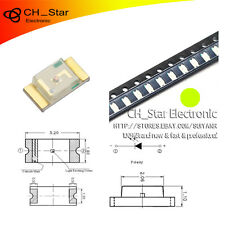 100PCS SMD SMT 1206(3216) LED Yellow Green Light Emitting Diodes Super Bright