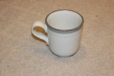 Noritake Stoneware Sierra Twilight Cup Coffee Tea Mug Japan Gray Rim Japan