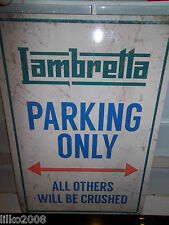 LAMBRETTA  PARKING ONLY, SCOOTER /VESPA,  30X20 CM METAL  SIGN,MOD,QUADROPHENIA
