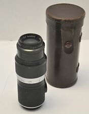 1954 Leitz Leica Hektor f =13.5cm 1:4.5 (135mm f/4.5) Black Screw Mount M39 Lens