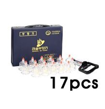 Hansol Bu-Hang Massage Professional Cupping Set 17PCS Cup with Extension Tube