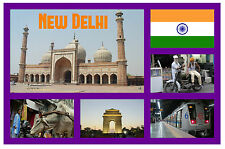 NEW DELHI, INDIA - SOUVENIR NOVELTY FRIDGE MAGNET - SIGHTS / TOWNS - GIFTS - NEW